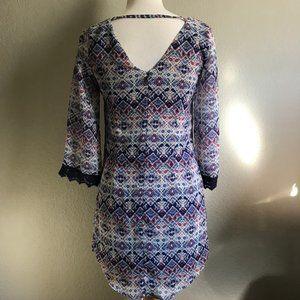 Speechless Lace 3/4 Sleeve Pattern Dress